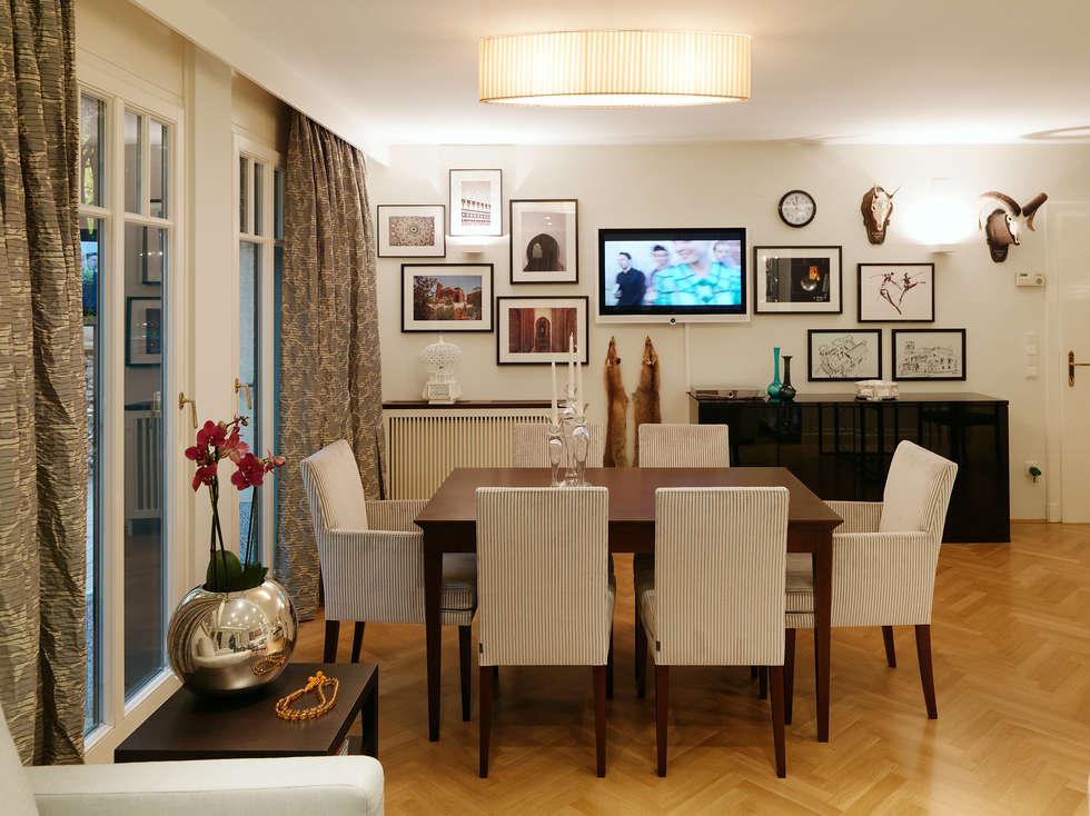 Essbereich Apartment: ausgefallene Esszimmer von Elke Altenberger Interior Design & Consulting
