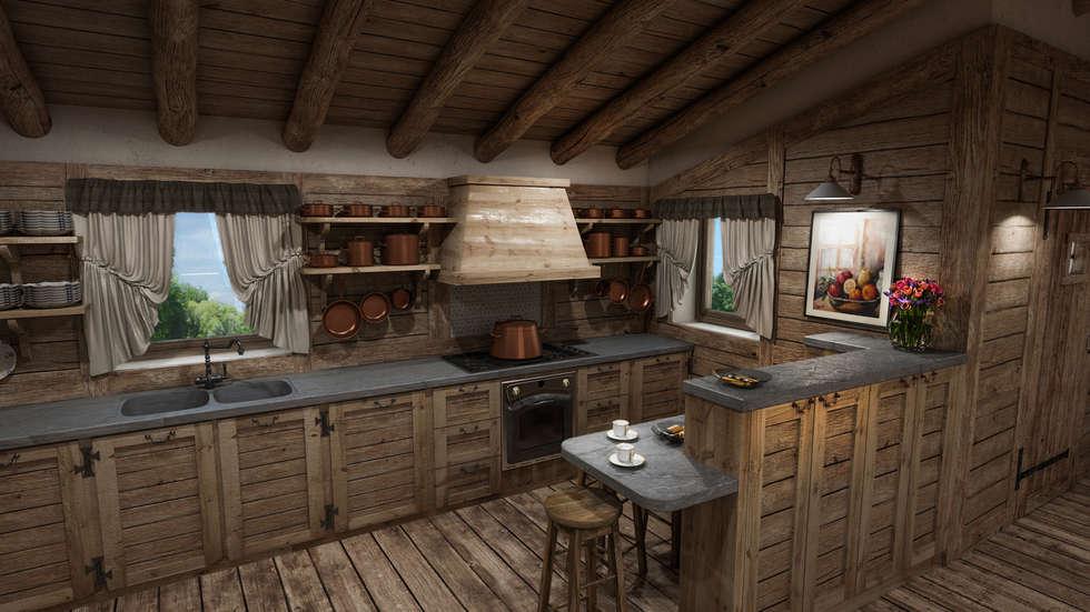 Idee arredamento casa interior design homify for Cucine di montagna