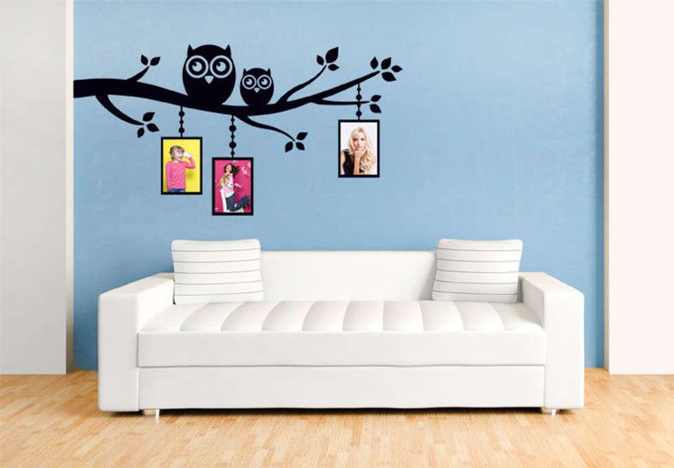 Wandtattoo – eulenzweig mit platz für fotos : wände & boden von k&l ...
