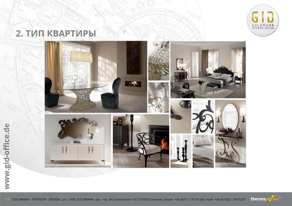 Wohnung - Typ 2: moderne Häuser von GID│GOLDMANN - INTERIOR - DESIGN
