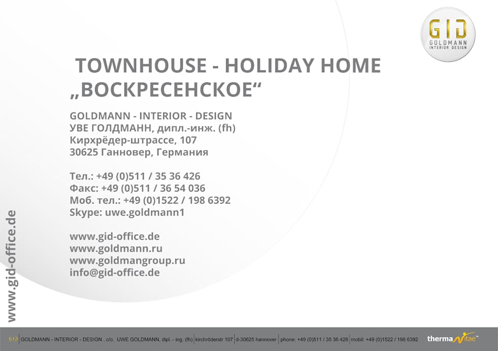 "Townhouse - Holiday Home ""Woskressenski"": moderne Häuser von GID│GOLDMANN - INTERIOR - DESIGN"