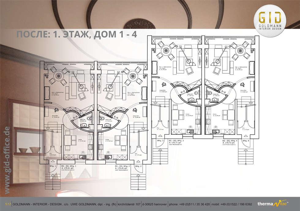 Nachher: moderne Häuser von GID│GOLDMANN - INTERIOR - DESIGN