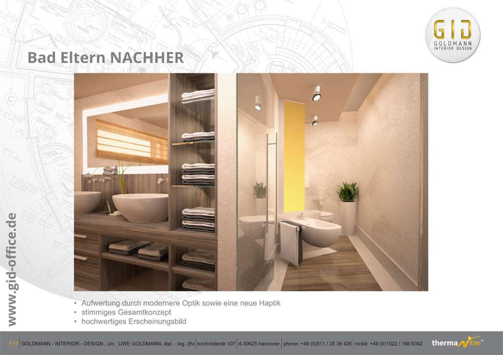 Nachher: moderne Badezimmer von GID│GOLDMANN - INTERIOR - DESIGN