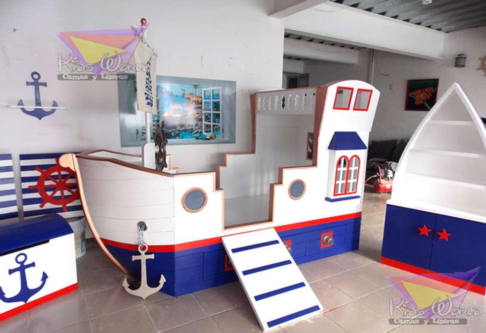 Recamara barco nautico habitaciones infantiles de estilo for Recamaras para jovenes