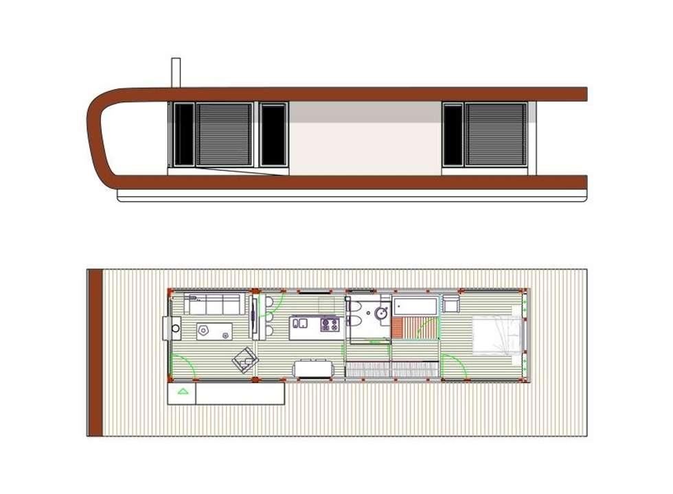prospetto e planimetria: Yacht & Jet in stile in stile Moderno di  Giovanni Lucentini piccolo studio di architettura di 7 mq.