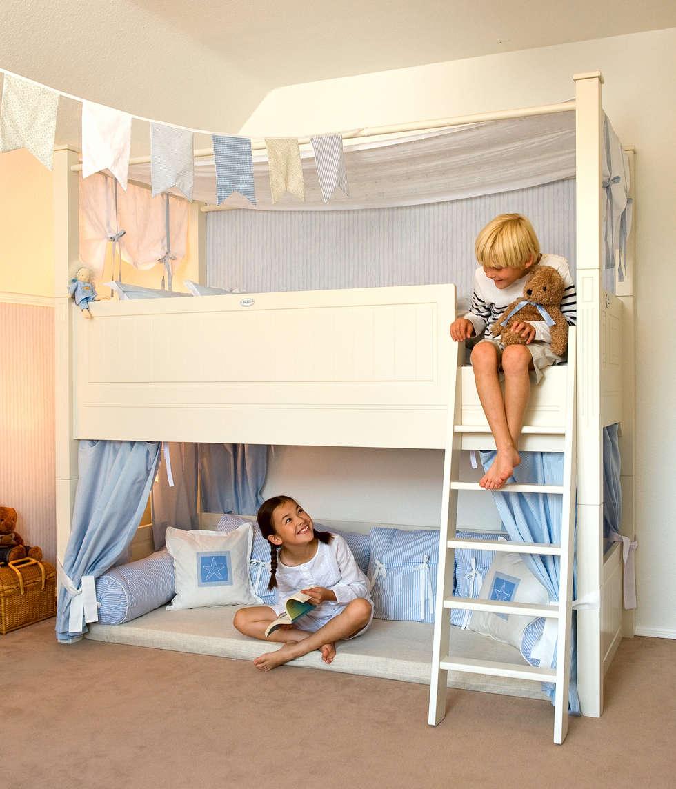Hochbett  JELVA: skandinavische Kinderzimmer von YUYO`s Schöne Kinderzeit