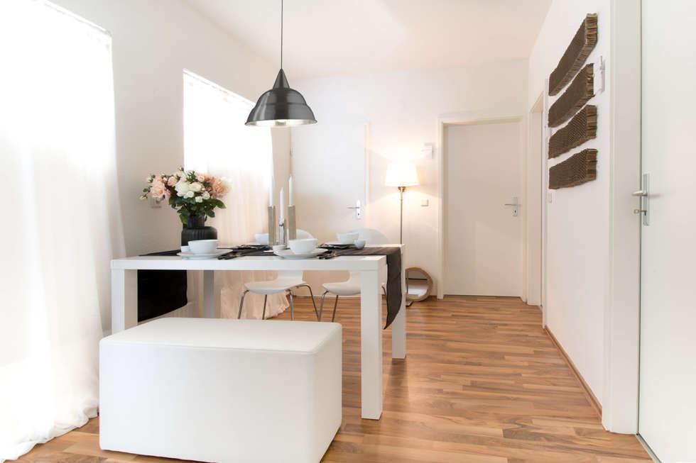 Esszimmer/Flur nachher: moderne Esszimmer von Luna Homestaging