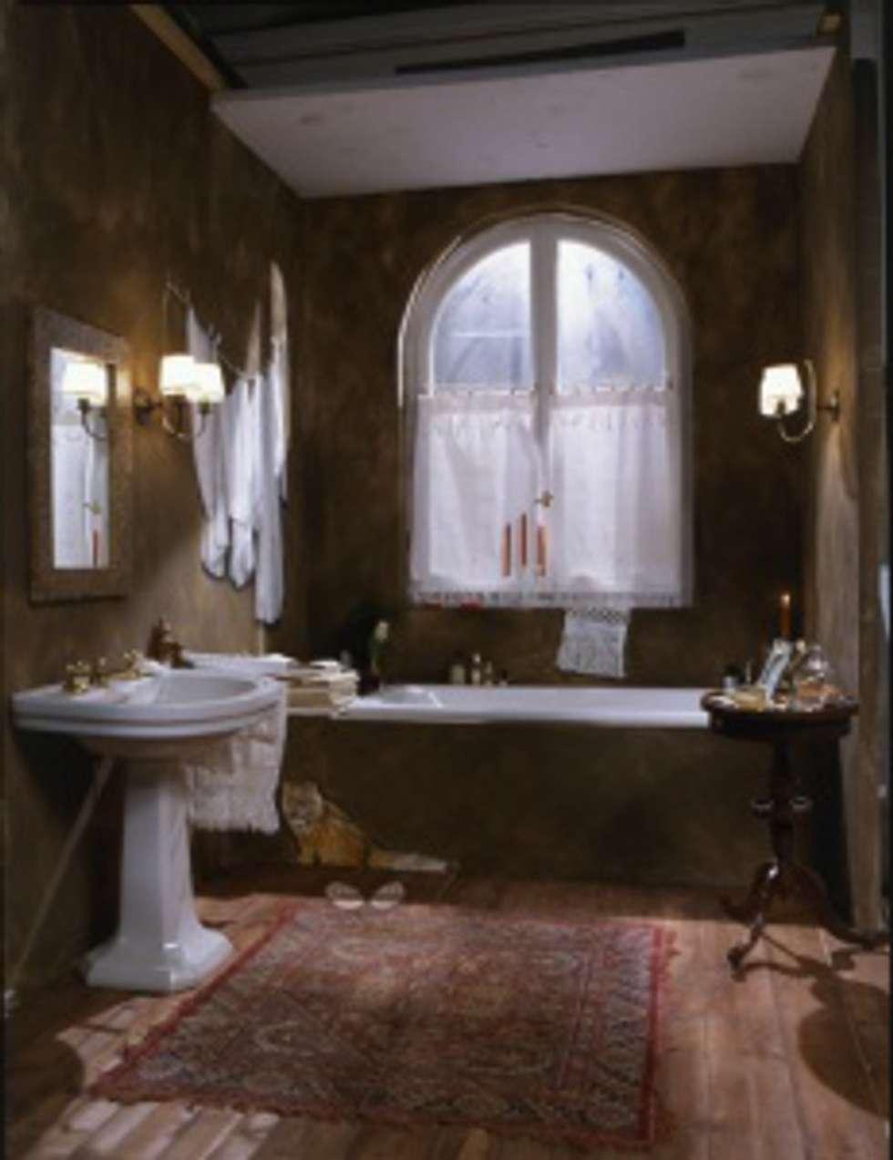 Trompe l'oeil bagno: Bagno in stile in stile Eclettico di INTERNO78.IT - DECORAZIONI D'INTERNI