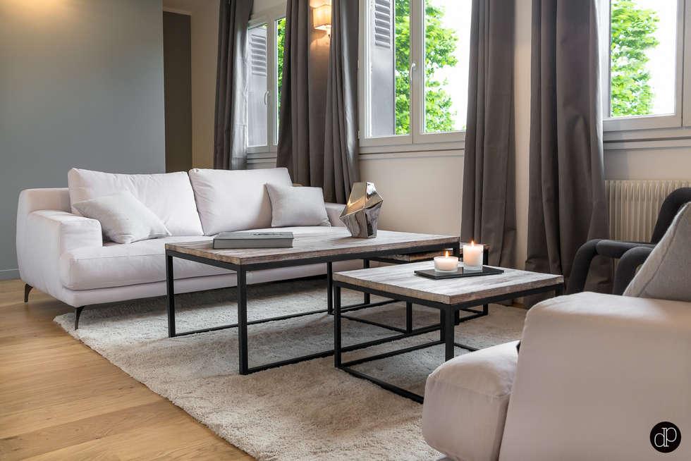 Le salon façon réception: Cuisine de style de style Moderne par Décoration Parisienne