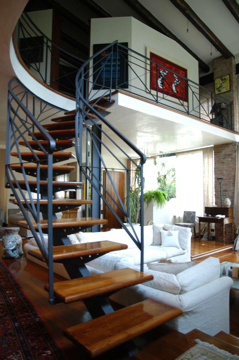 Scala: Case in stile in stile Eclettico di Paolo Gerosa Design Studio