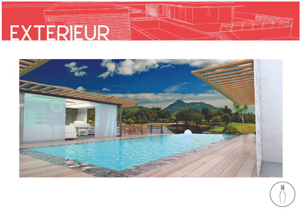 piscine a débordement: Piscines  de style  par LE LAB Design