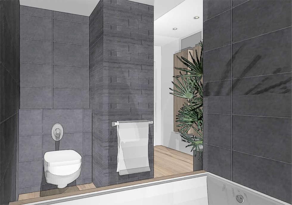 decoration salle de bains: Salle de bains de style  par agence concept decoration