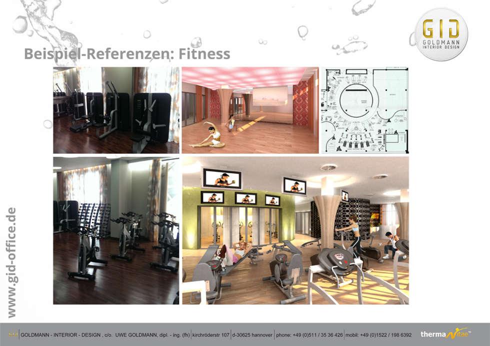 Fitness: klassisches Spa von GID│GOLDMANN - INTERIOR - DESIGN
