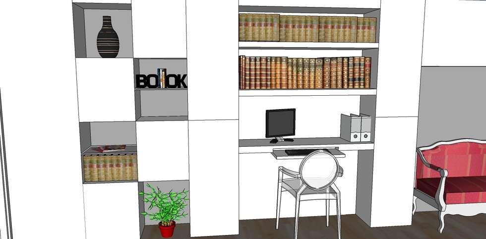Mur de placards: Salon de style de style Moderne par AUDE SWEET HOME