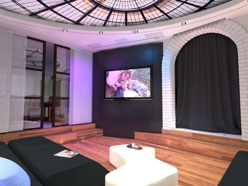 Ecran tv: Salon de style de style Moderne par L'Espace Carré d'Arts