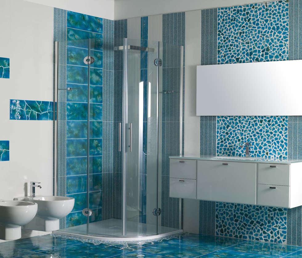 Canaletto azzurro bagno in stile in stile mediterraneo di for Arredamento acquario