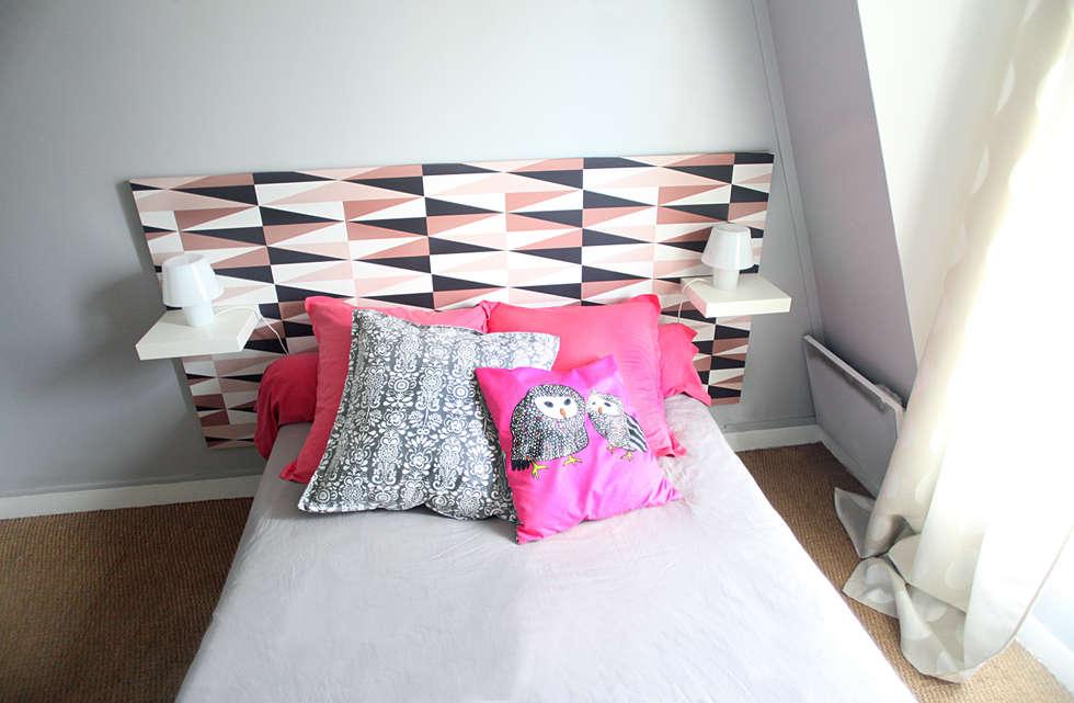 Chambre: Chambre de style de style eclectique par Sandra Dages
