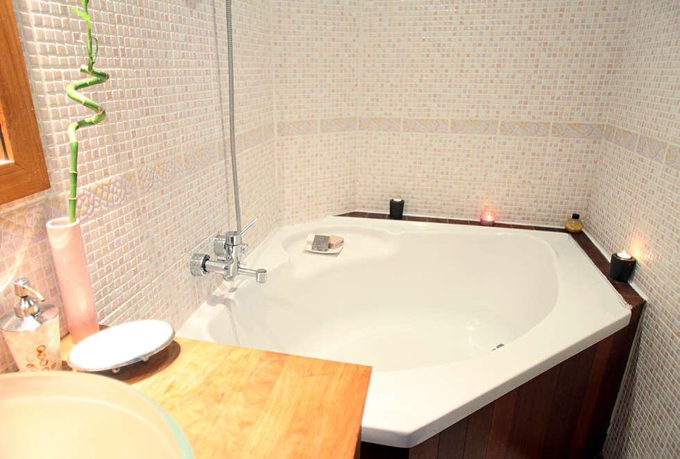 Salle de bain nordique: Salle de bains de style  par Sandra Dages