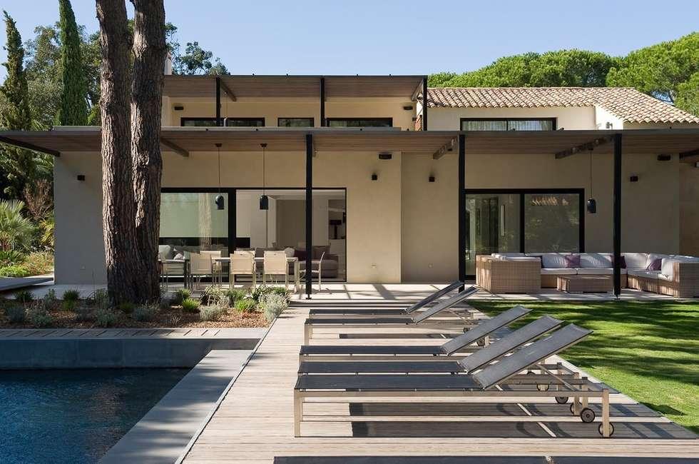 maison wp terrasse de style par vincent coste architecte homify. Black Bedroom Furniture Sets. Home Design Ideas