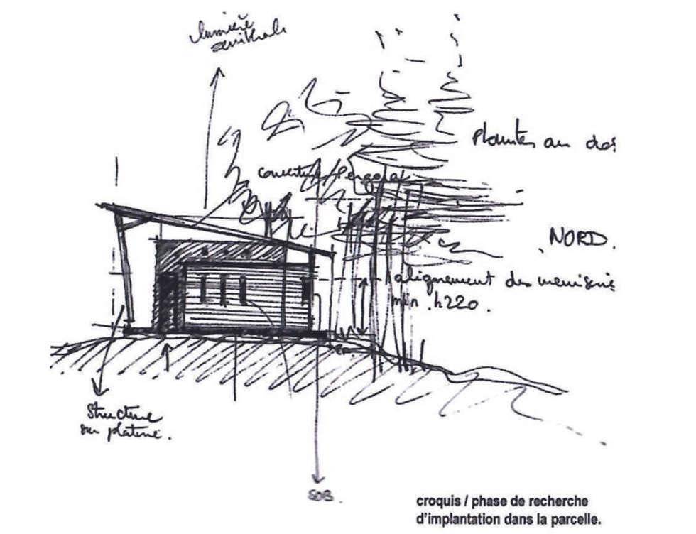 CROQUIS D'INTENTION: Maisons de style de style Moderne par l.ink