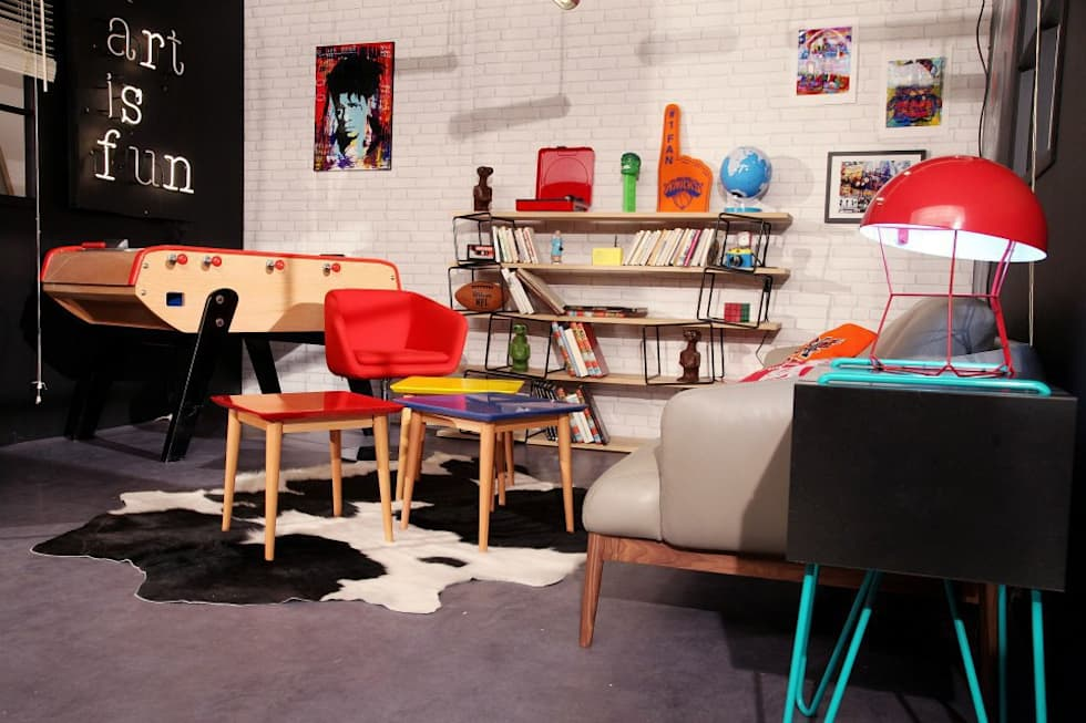 Art is fun: Salon de style de style eclectique par Sandra Dages