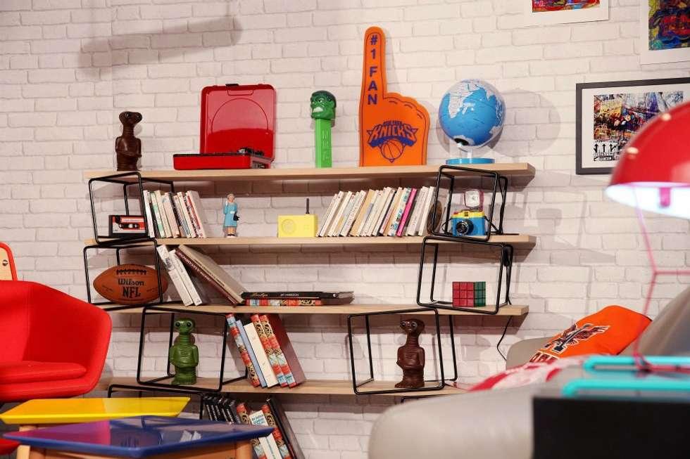 Bibliothèque Quake Eno: Salon de style de style eclectique par Sandra Dages
