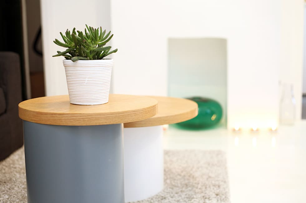 Tables basses: Salon de style de style eclectique par Sandra Dages