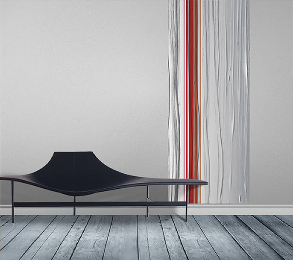 Photos de murs & sols de style de style moderne : papier peint lé ...