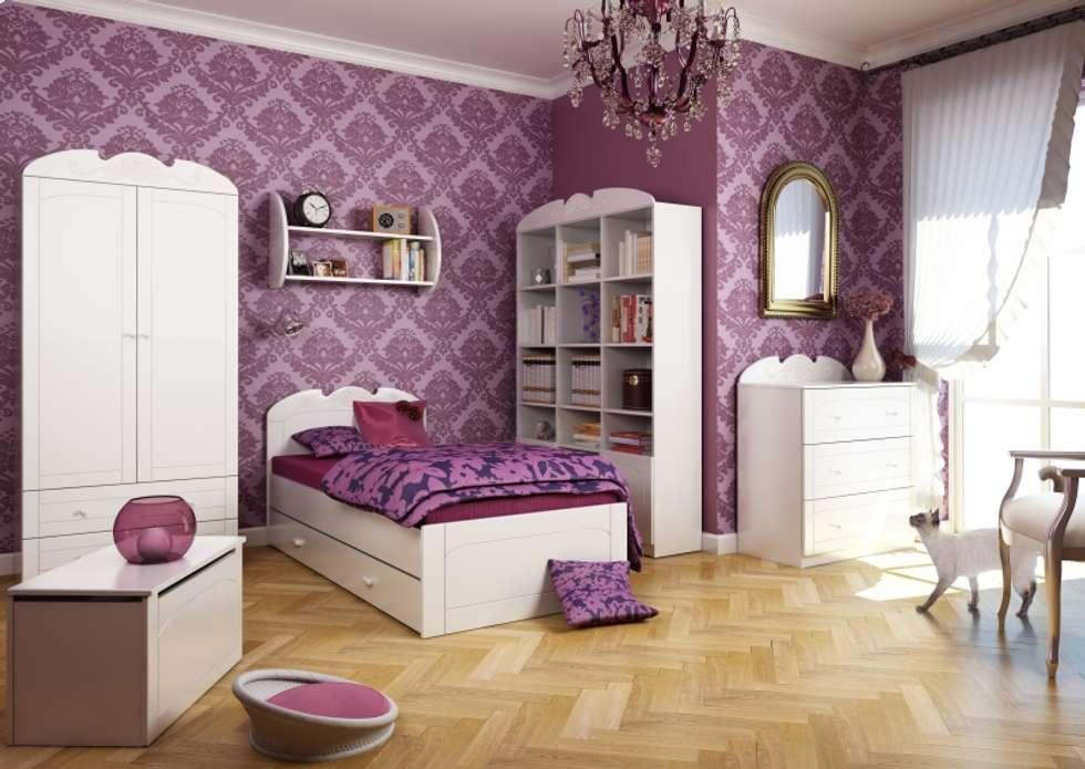 Kinderzimmer Bianco Fiori: klassische Kinderzimmer von Möbelgeschäft MEBLIK