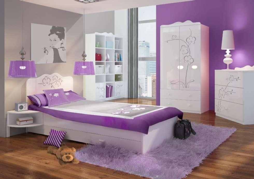 Kinder-/Jugendzimmer Orchidee Silber: klassische Kinderzimmer von Möbelgeschäft MEBLIK