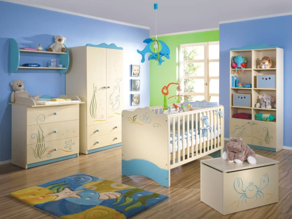 Babyzimmer Oceanic: moderne Kinderzimmer von Möbelgeschäft MEBLIK