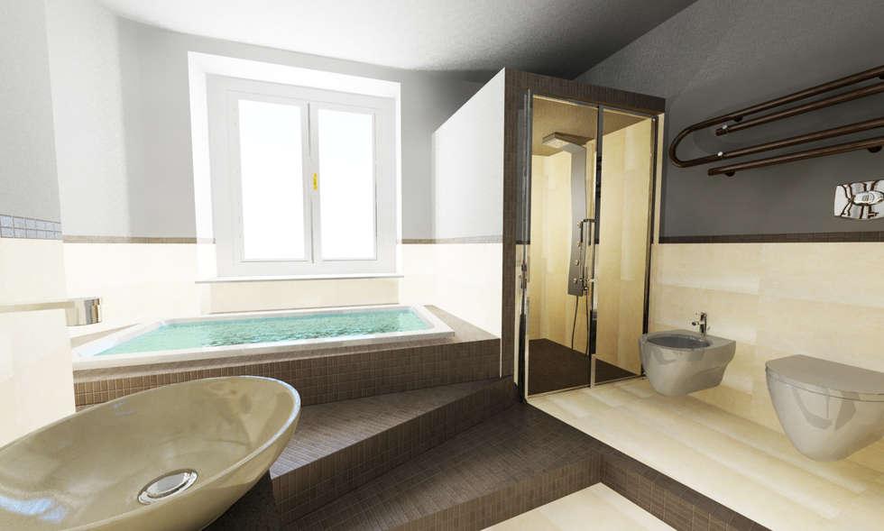 Una spa in casa bagno in stile in stile moderno di inarte