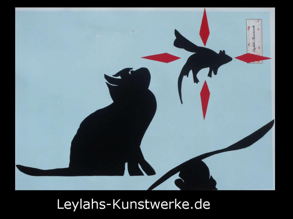 Elegant Banksy   Flying Rat (schwarz/rot): Wände U0026 Boden Von Leylahs