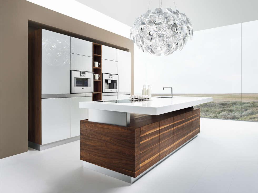 moderne küche bilder: küche ?l1? mit k7 insel | homify - Moderne Kche Mit Insel