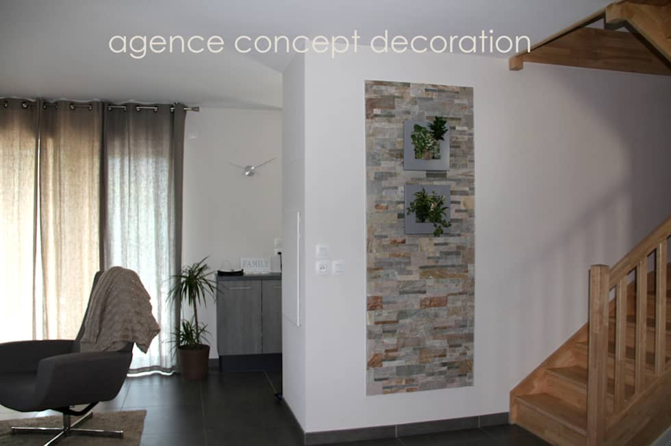 Id es de design d 39 int rieur et photos de r novation homify for Agencement sejour salon
