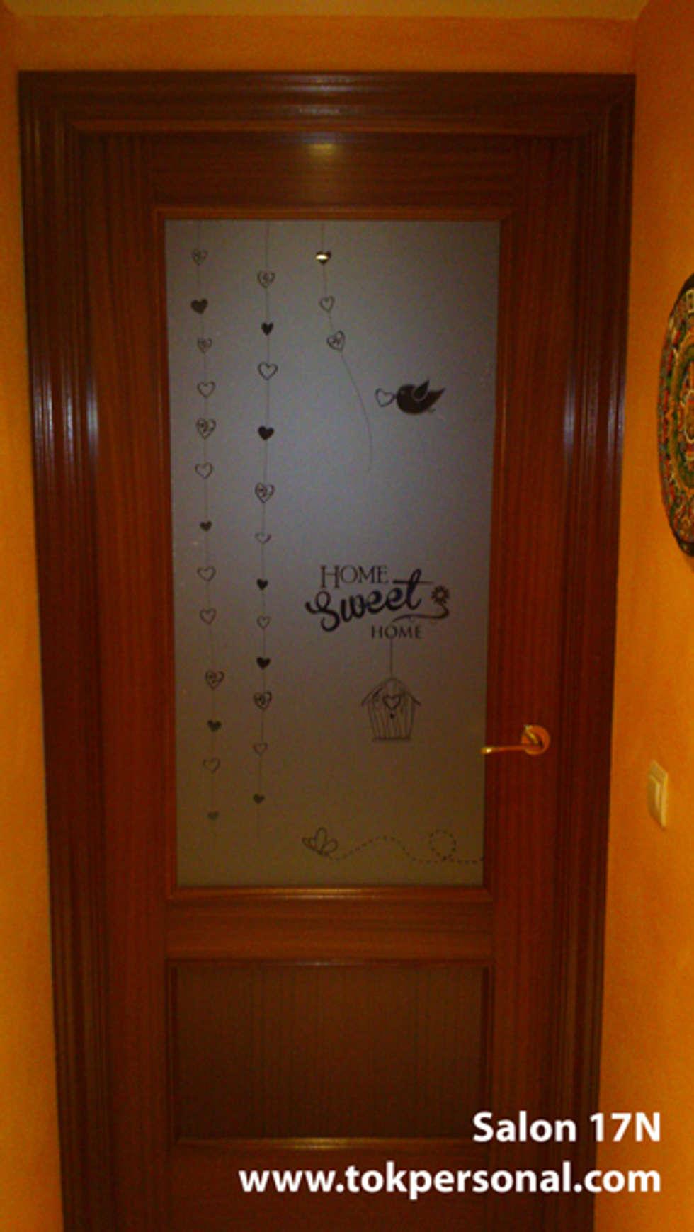 Vinilos Para Puertas Decoraci N R Pida Y Original ~ Cristales Para Puertas De Salon