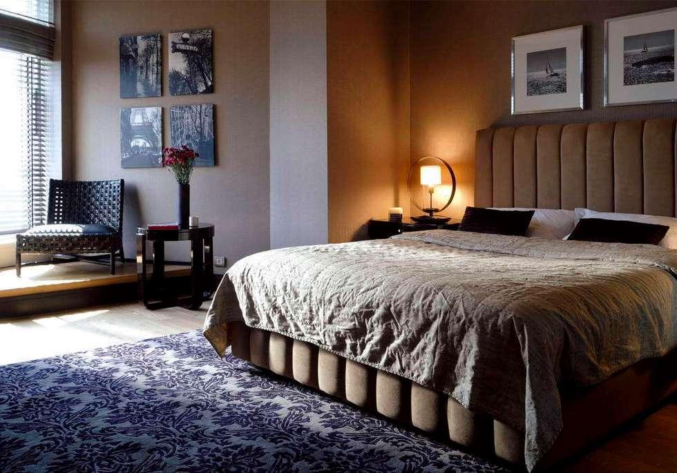 Esra Kazmirci Mimarlik: eklektik tarz tarz Yatak Odası