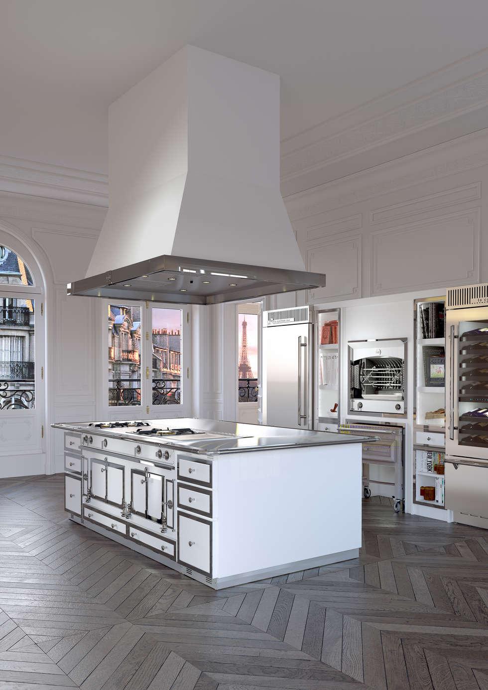 Ilot Château : Cuisine de style de style Classique par La Cornue