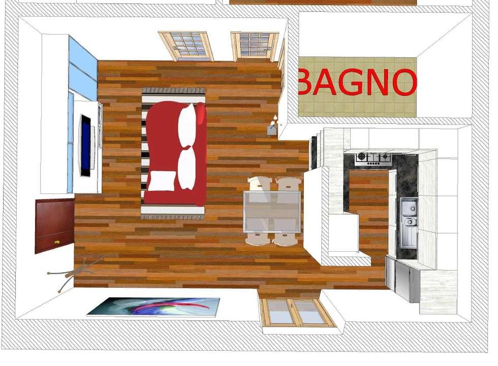 OPEN SPACE: LA QUINTA DIVIDE E UNISCE : Cucina in stile in stile Moderno di Idea d' Interni Arredamenti