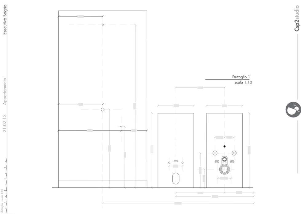 Esecutivo bagno: Case in stile in stile Moderno di CSP2 studio