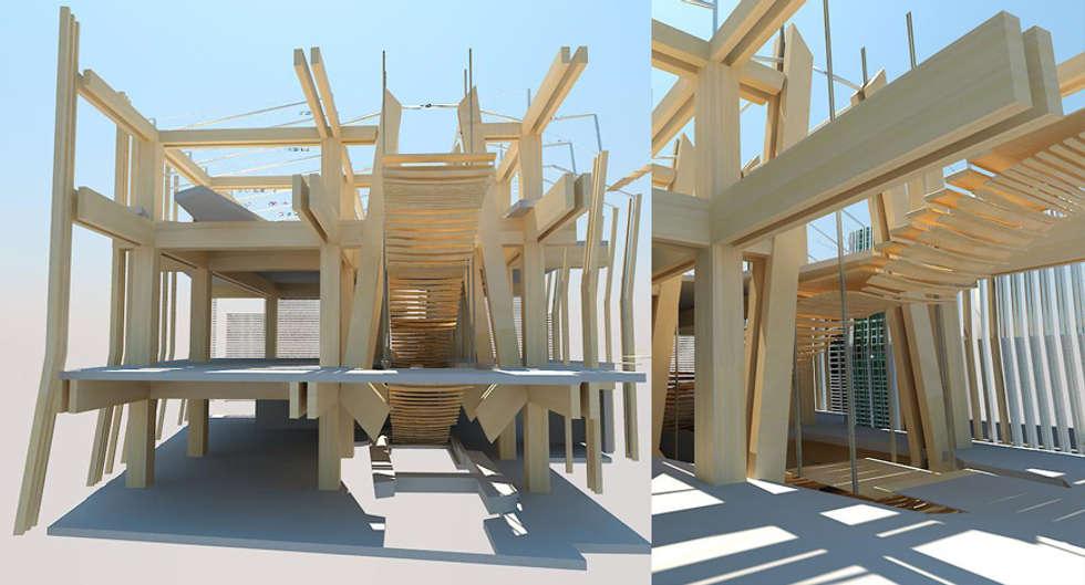 Nuova Biblioteca Civica in Piazza Duomo - Bressanone/Brixen (BZ) IT 2010: Centri congressi in stile  di Farre+Stevenson Architettura