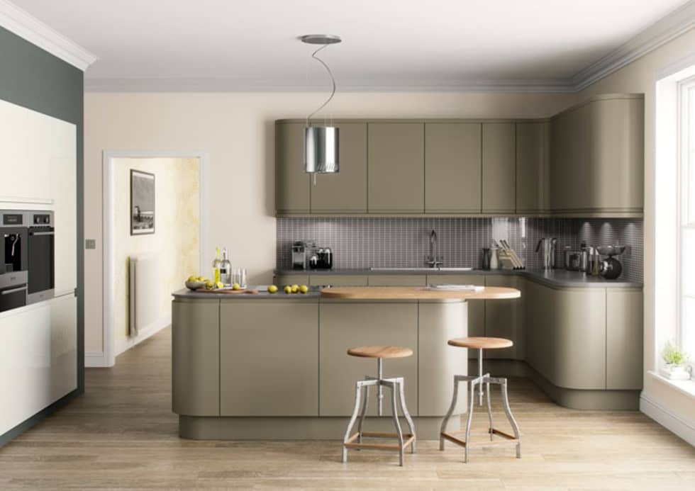 Handleless kitchens leicester modern kitchen by the leicester kitchen co
