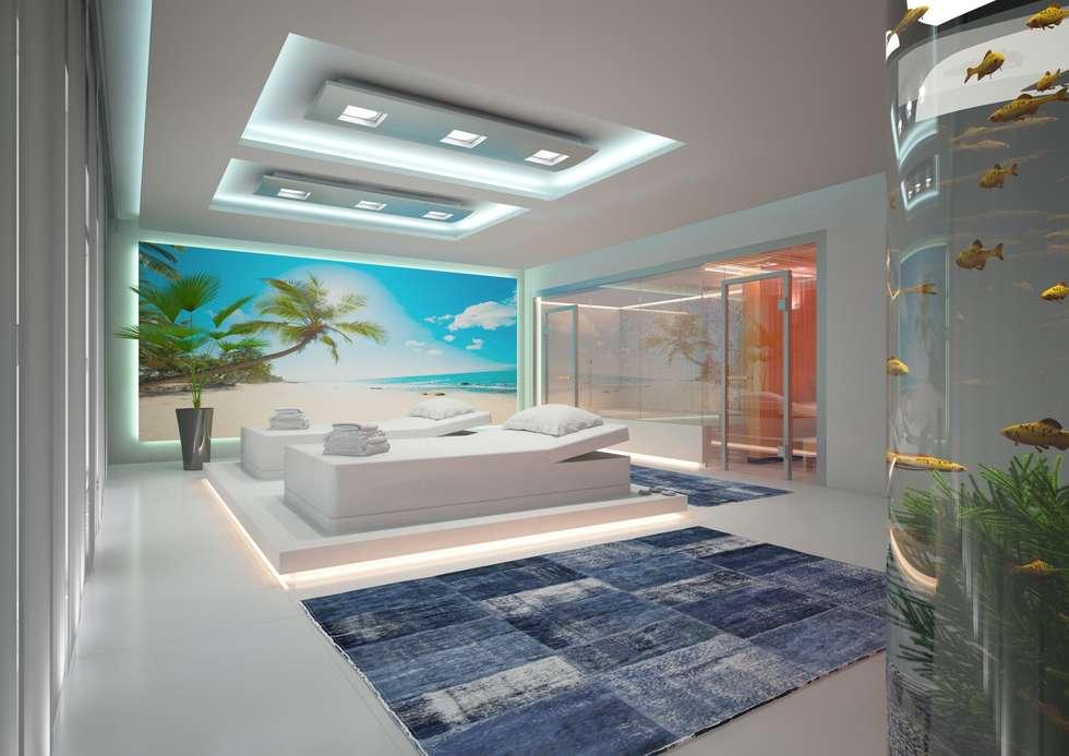 Projekty, minimalistyczne Spa zaprojektowane przez Design by Torsten Müller