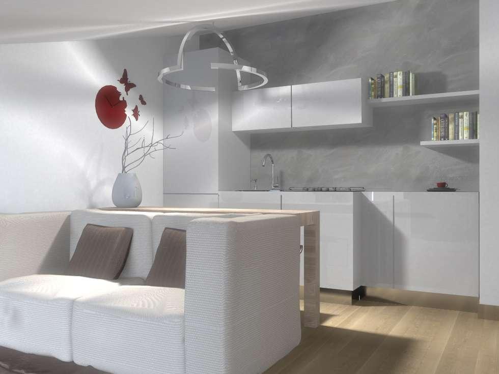 CAMERA DEGLI OSPITI: Soggiorno in stile in stile Moderno di silvia motta architettura e design