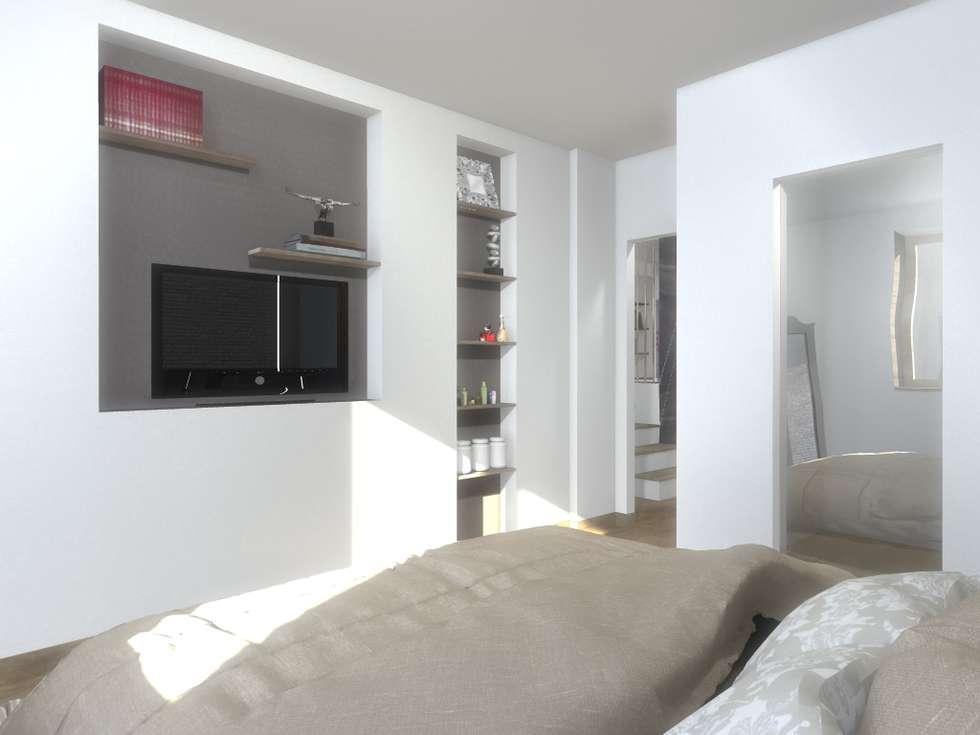 CAMERA MATRIMONIALE: Camera da letto in stile in stile Moderno di silvia motta architettura e design