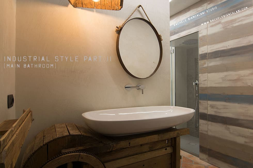 Main Bathroom : industrial and vintage style: Bagno in stile in stile Moderno di Rachele Biancalani Studio