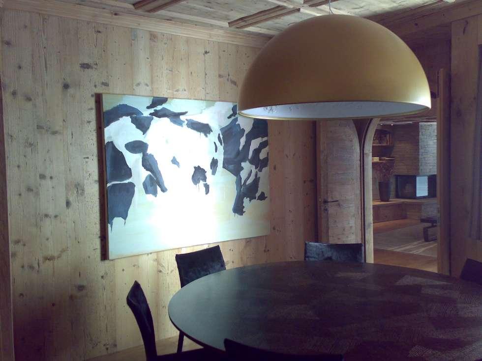 sala da pranzo: Sala da pranzo in stile in stile Moderno di arch patrizia cagliani