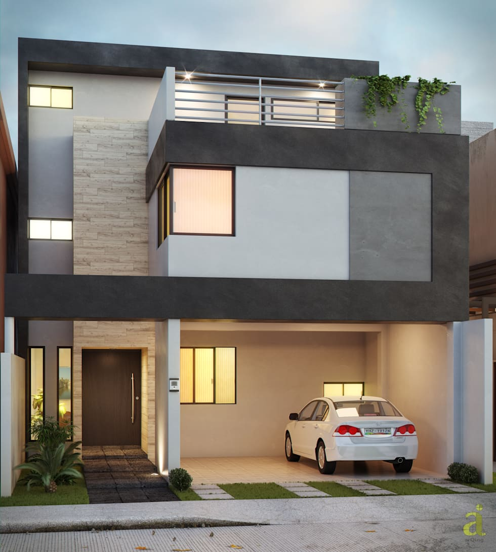 Casa residencial en Lomas de la Rioja.: Casas de estilo minimalista por arQing