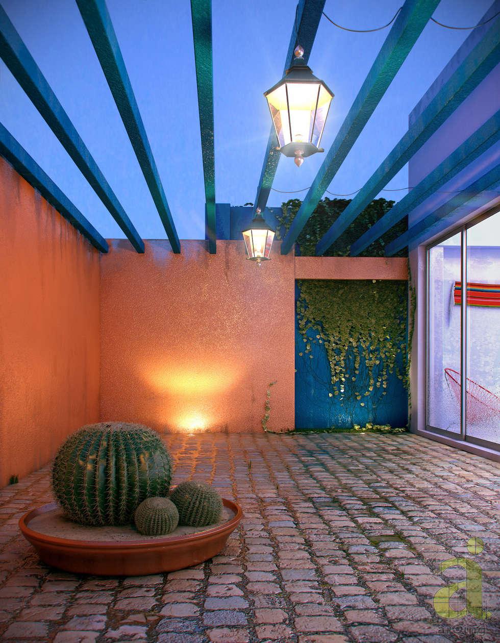 Jardines de estilo rústico por arQing