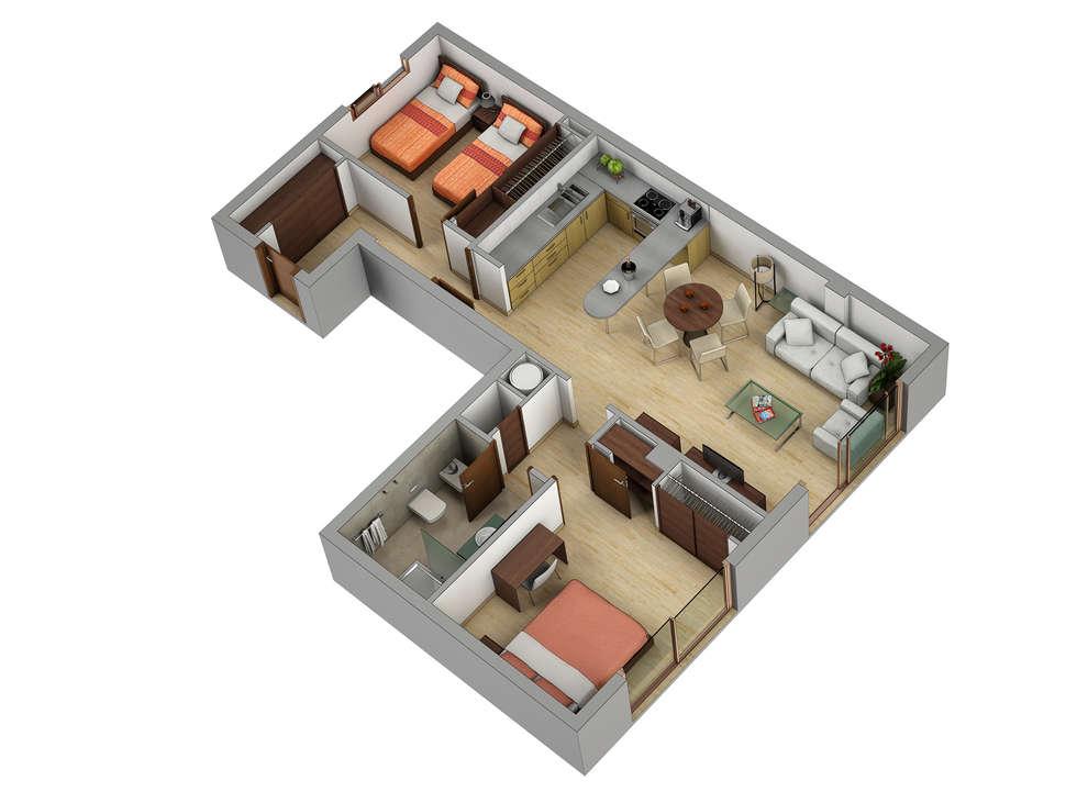 Fotos de decoraci n y dise o de interiores homify for Planos de interiores